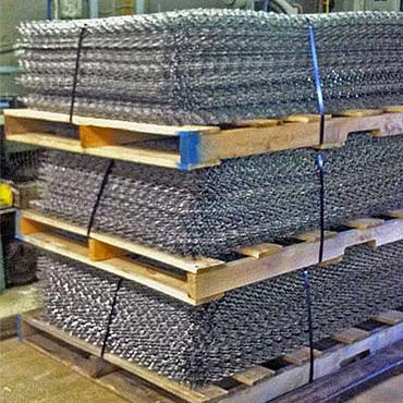 Woven Wire Sheets on Pallet