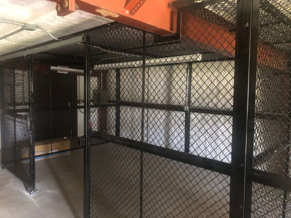 custom wire cage for national guard